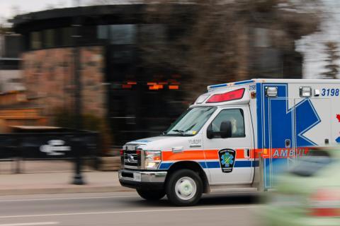 Ambulance in city street